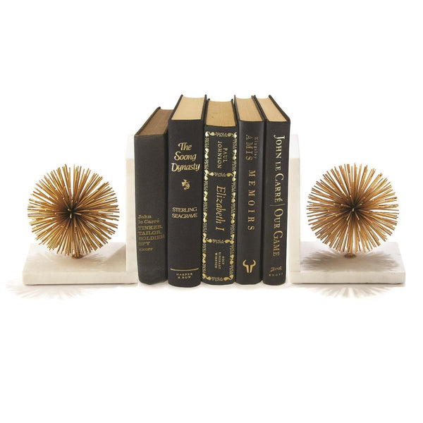 Tozai Home Set of 2 Gold Starburst Bookends | Alchemy Fine Home