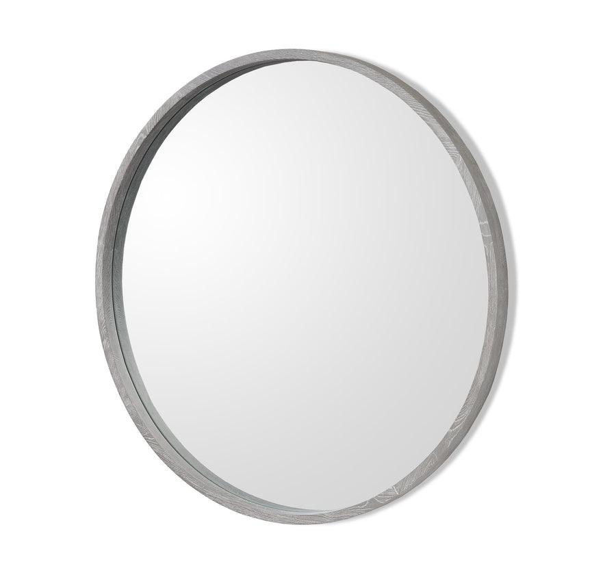 Interlude Home Como Grand Mirror - Grey Ceruse Finish