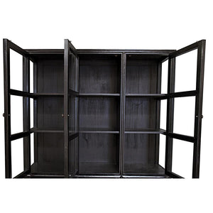Noir Colonial Hand Rubbed Black Hutch