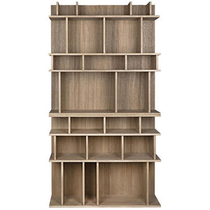 Noir Rashi Washed Walnut Bookcase