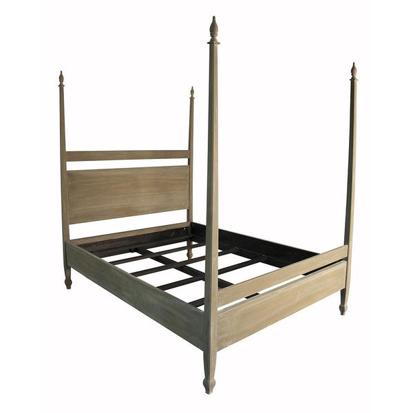 Noir Venice Weathered Brown Eastern KingBed Frame