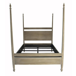 Noir Venice Weathered Brown Queen Bed Frame