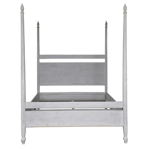 Noir Venice White Queen Bed Frame