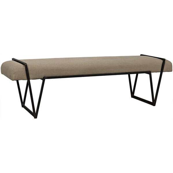 Noir Larkin Metal Bench
