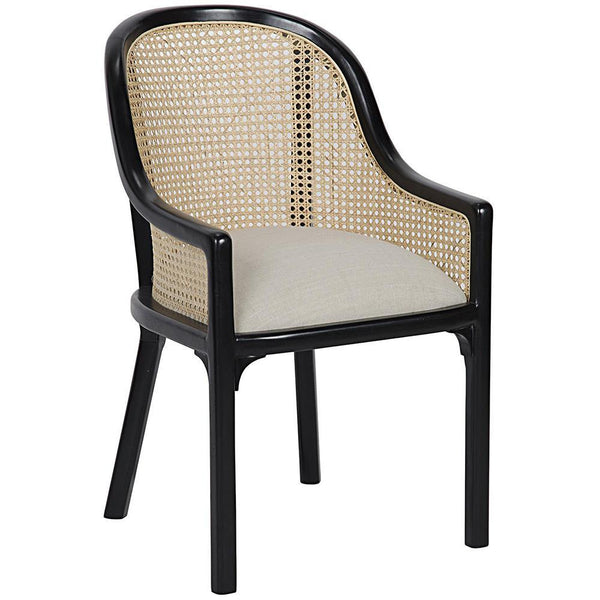 Noir Gaston Hand Rubbed Black Chair