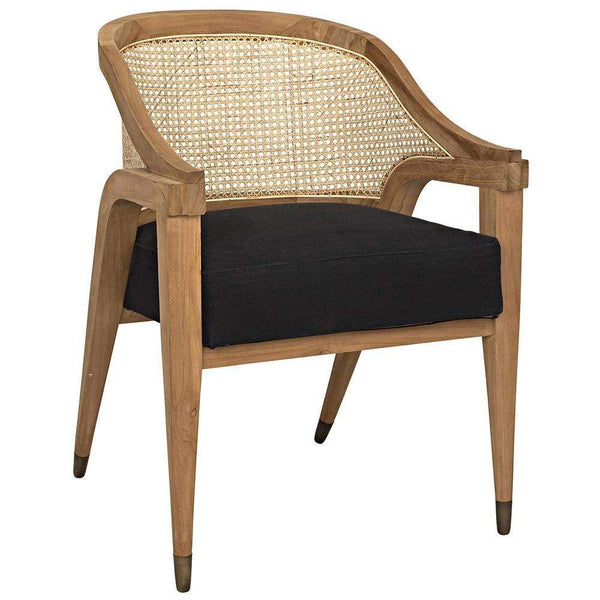 Noir Noir Chloe Cotton Teak Chair GCHA283T