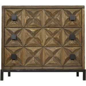 Noir Jones 3 Drawer Sideboard