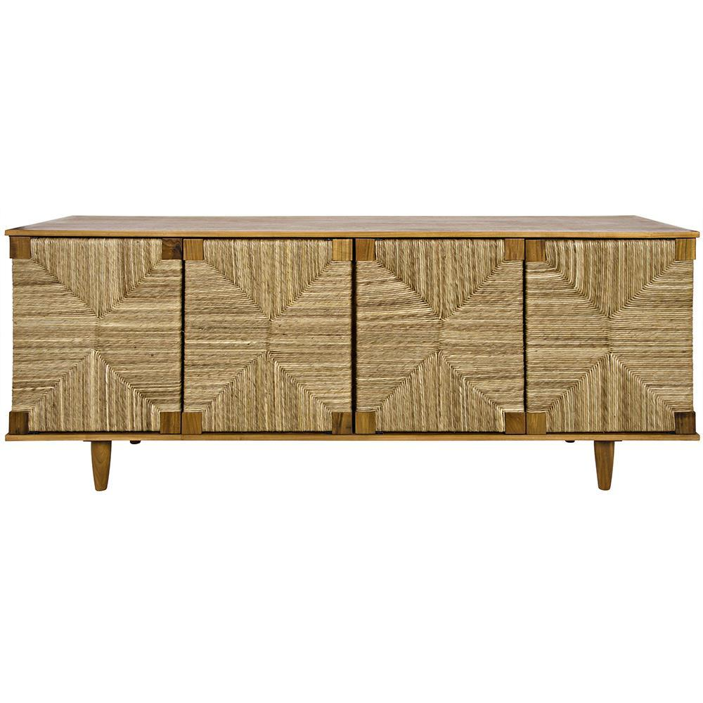 Noir Noir Brook 4 Door Teak Sideboard GCON239-2T