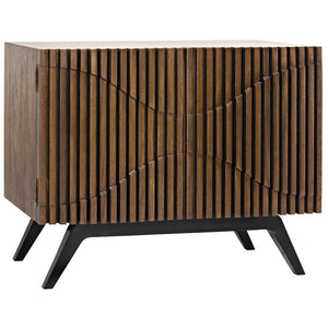 Noir Illusion Single Sideboard with Metal Base