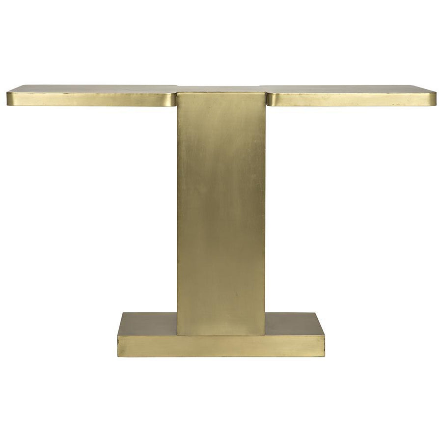 Noir I Metal with Brass Finish Console