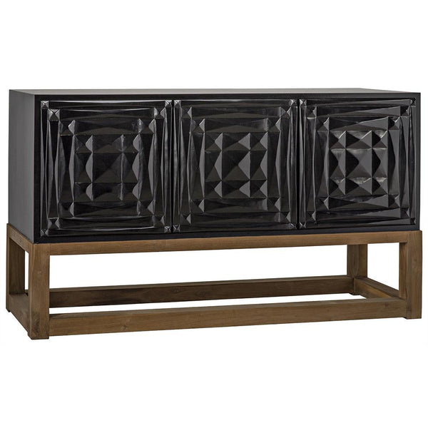 Noir Oliver Hand Rubbed Black Sideboard
