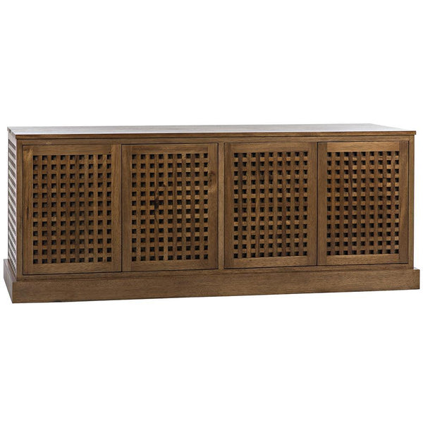 Noir Genti 4 Door Dark Walnut Sideboard