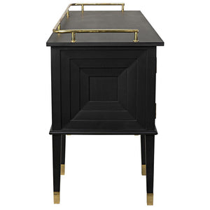 Noir Conveni Sideboard with Brass Detail