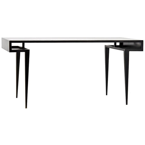 Noir Stiletto Black Metal Desk