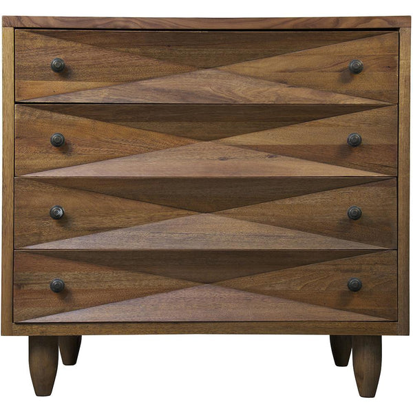 Noir Noir Diamond Dark Walnut Chest GDRE180DW