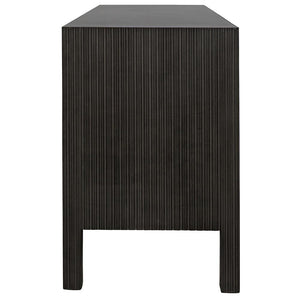 Noir Conrad 9-Drawer Brown and Black Dresser
