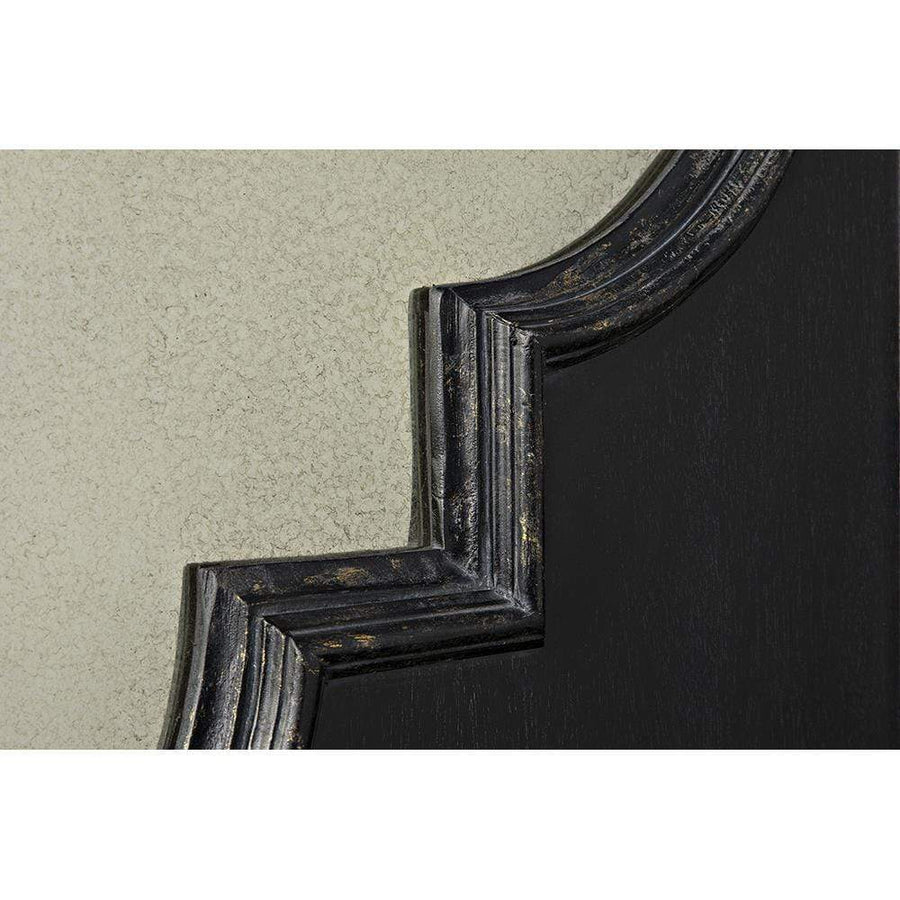 Noir Good Luck Hand Rubbed Black Gold Mirror