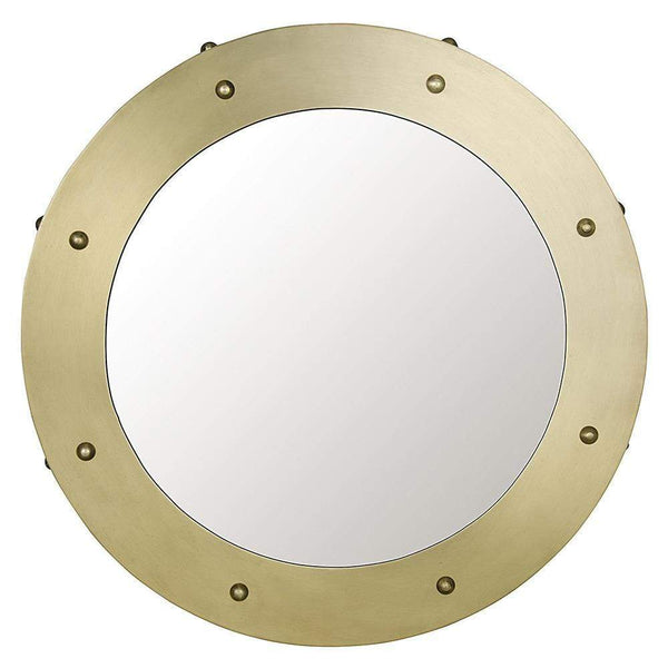 Noir Clay Small Metal with Brass Finish Mirror