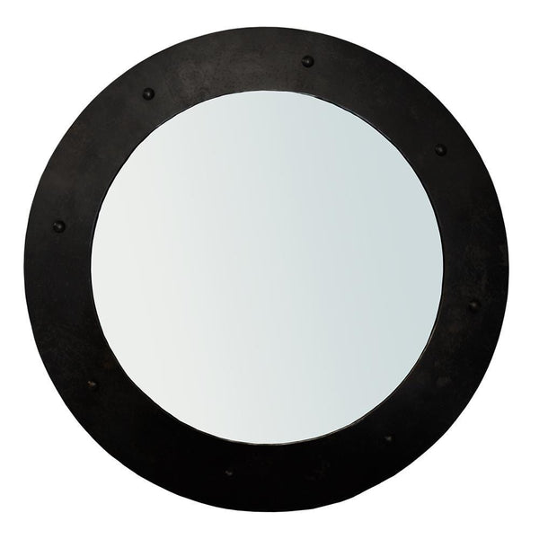 Noir Clay Large Black Metal Mirror