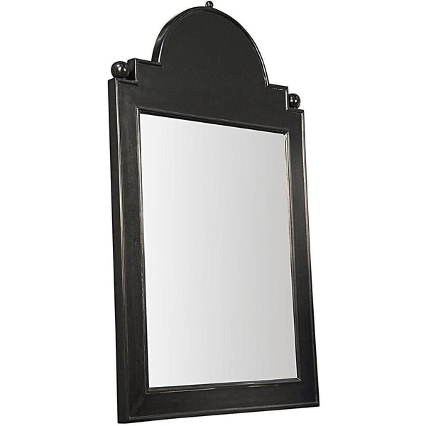 Noir Jess Hand Rubbed Black Mirror