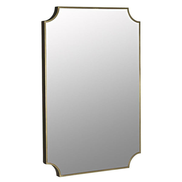 Noir Convexed Metal with Brass Mirror