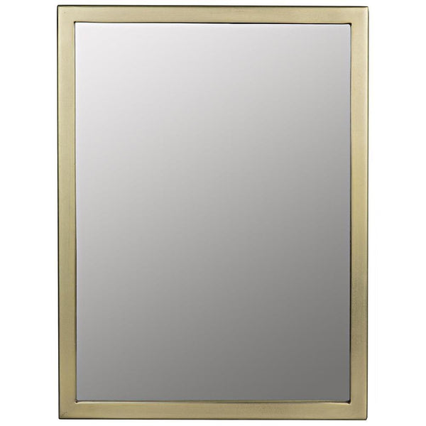 Noir Logan Small Metal with Brass Finish Mirror