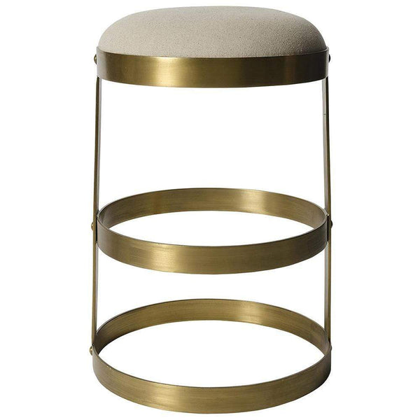 Noir Dior Metal with Brass Counter Stool