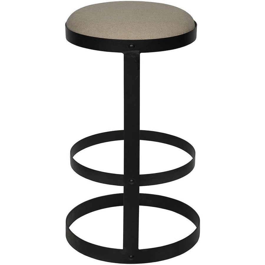 Noir Dior Black Metal Stool