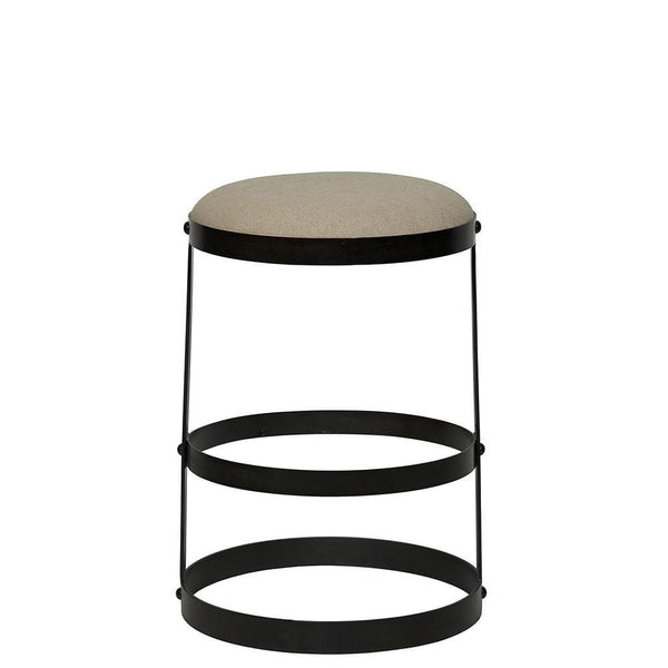 Noir Dior Black Metal Counter Stool