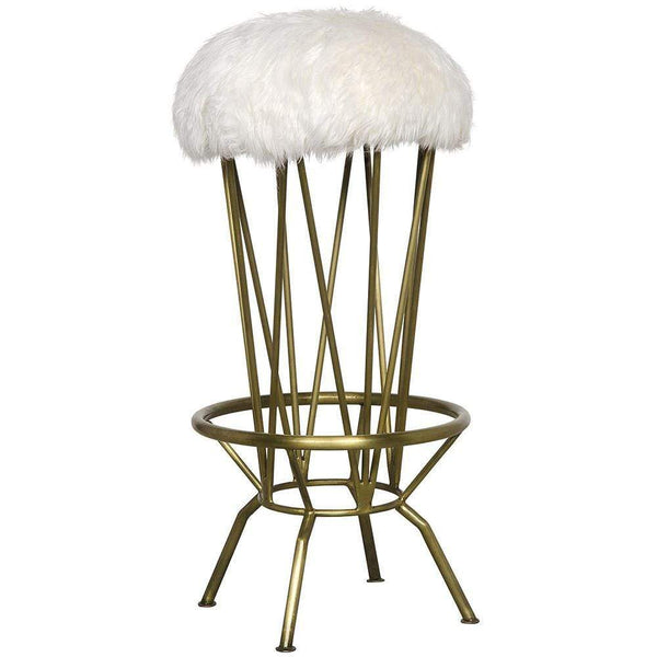 Noir Marsha Brass Bar Stool