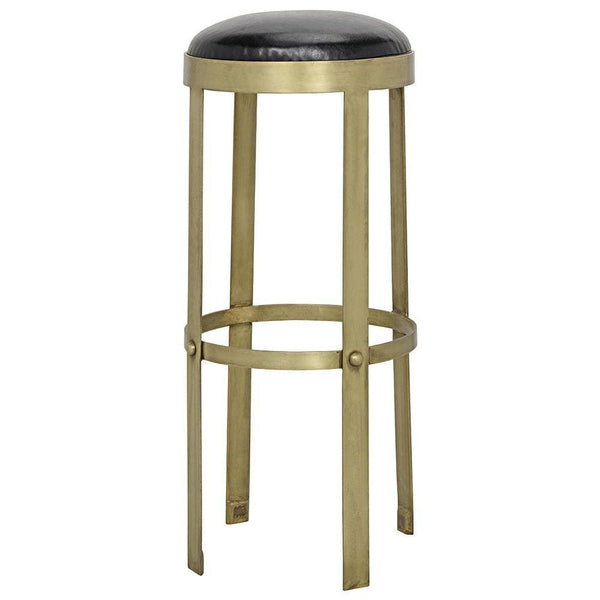Noir Prince Stool with Leather