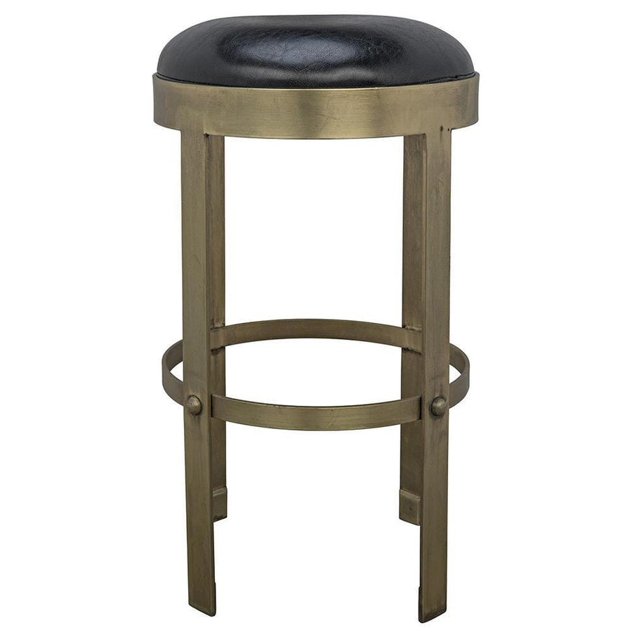 Noir Prince Counter Stool with Leather
