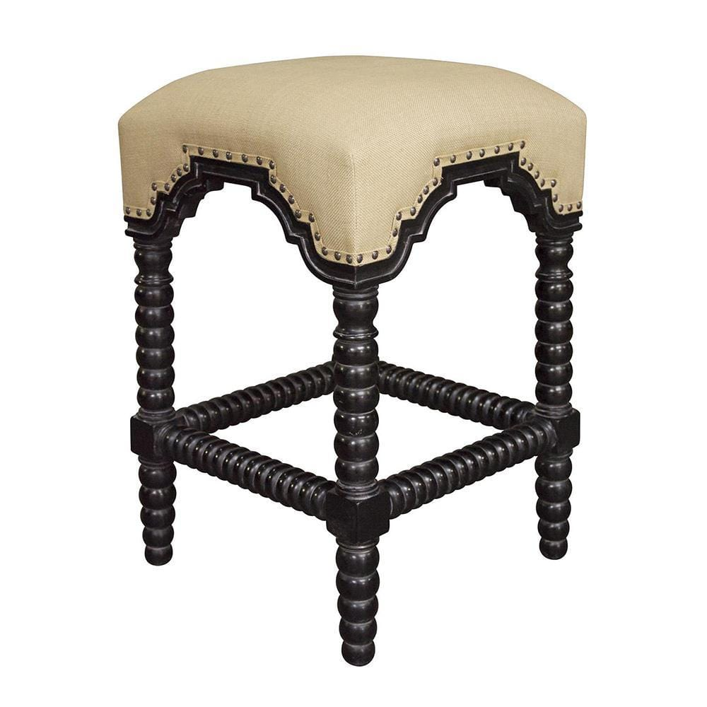 Noir Noir Abacus Hand Rubbed Black Counter Stool GSTOOL201HBS-C
