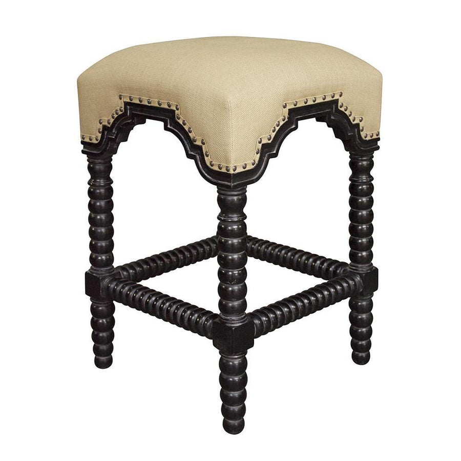 Noir Abacus Hand Rubbed Black Counter Stool