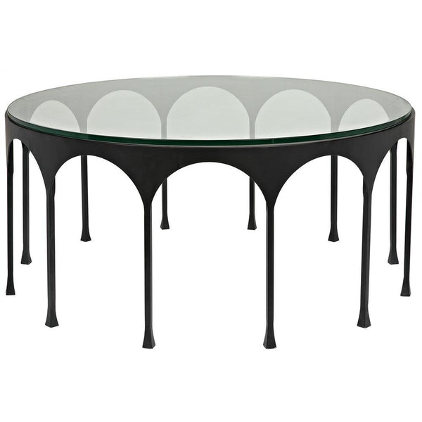 Noir Achille Black Metal Coffee Table