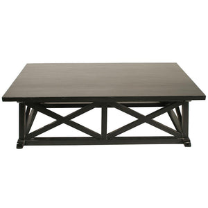 Noir Sutton Hand Rubbed Black Coffee Table