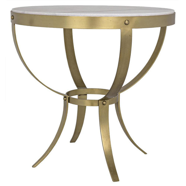 Noir Byron White Stone Side Table