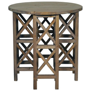 Noir Zimmerman Old Wood Side Table