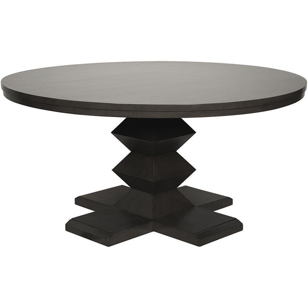 Noir Zig-Zag Base Dining Table
