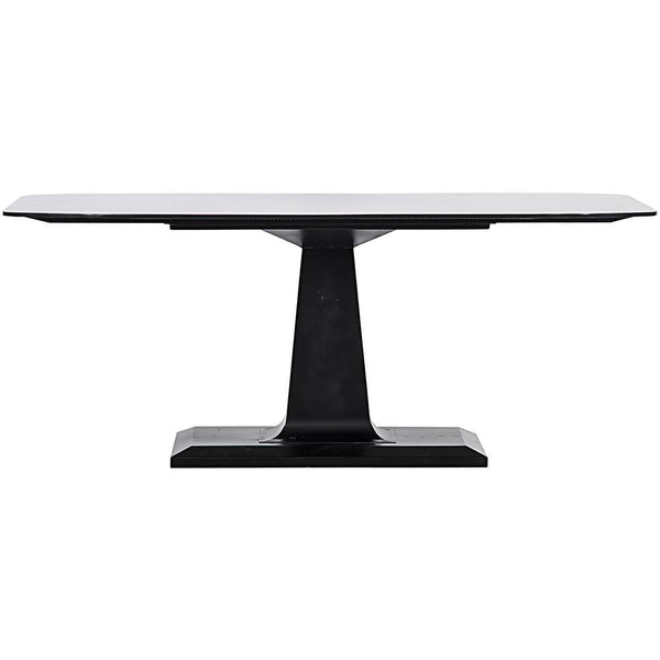 Noir Amboss Black Metal Dining Table