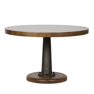 "Noir Yacht 48"" Dining Table with Cast Pedestal"