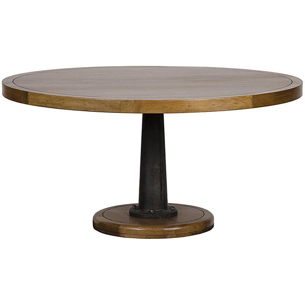 "Noir Yacht 60"" Dining Table with Cast Pedestal"