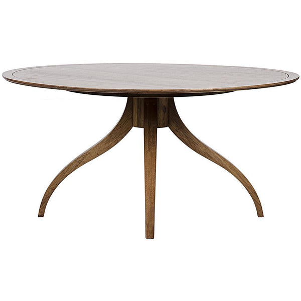 Noir Vera Dark Walnut Dining Table