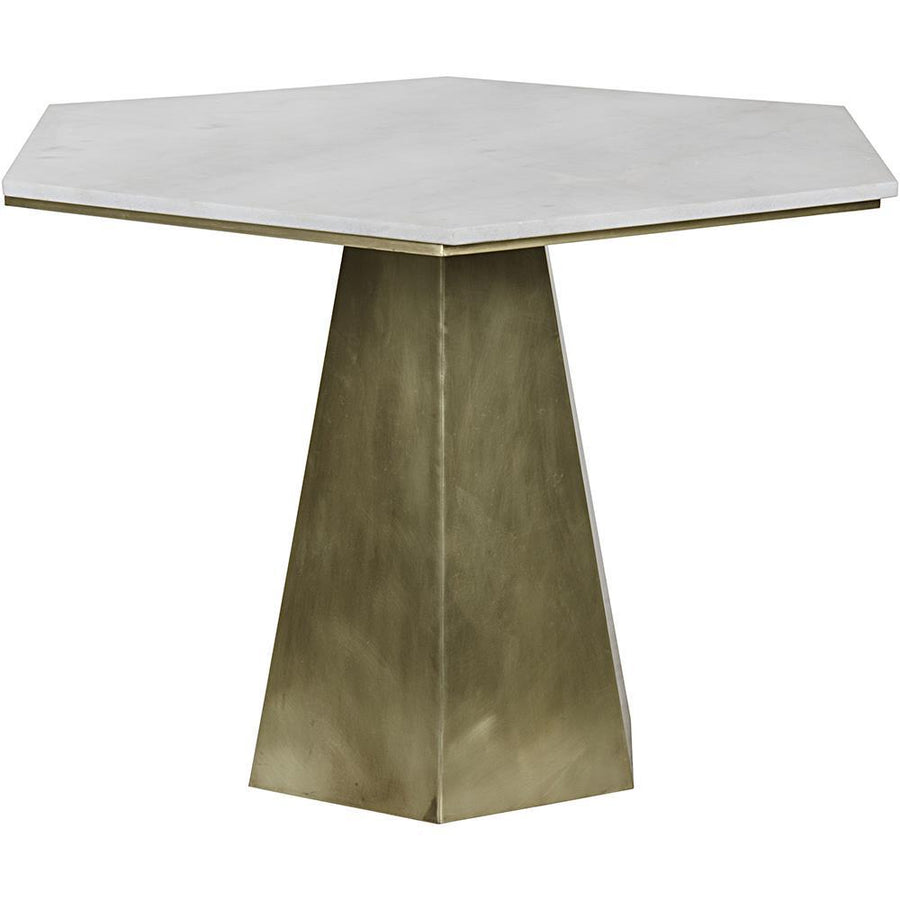 Noir Demetria White Stone Top Table