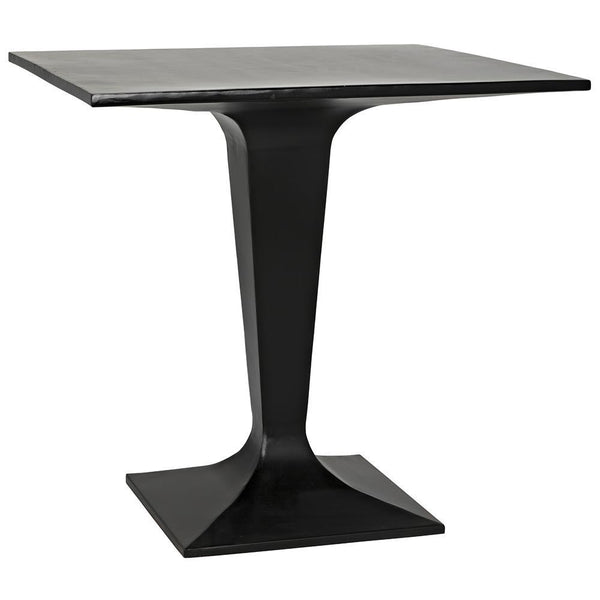 Noir Anoil Black Metal Bistro Table