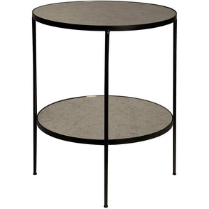 Noir Noir Anna Antique Glass Side Table GTAB622MTB
