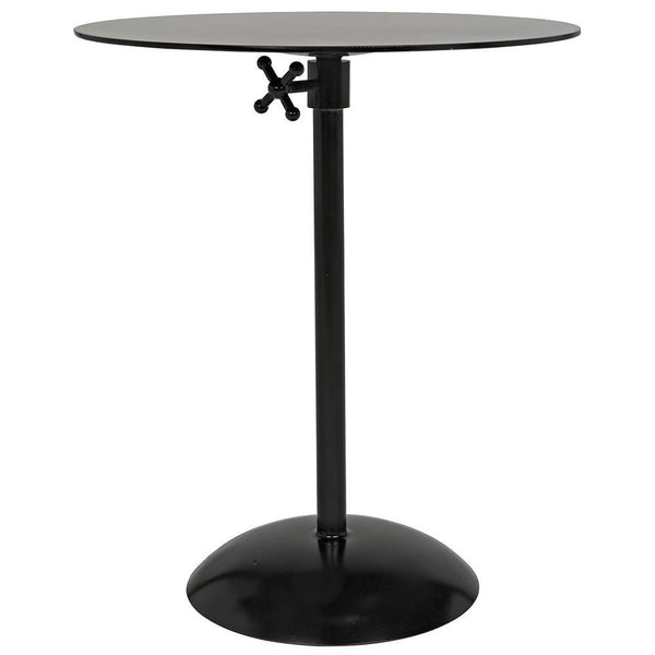 Noir Felix Black Metal Side Table