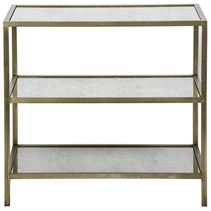 Noir 3 Tier Side Table with Antique Glass
