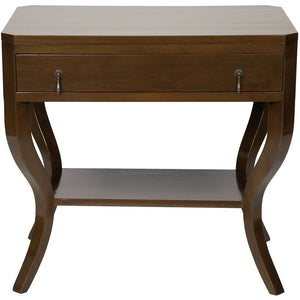 Noir Weldon Brown Side Table