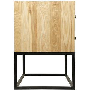 Noir Downtown Elm with Black Metal Side Table